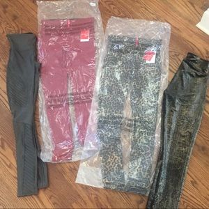LOT 4 Spanx faux leather pants XS / S